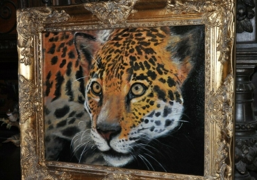 Tablou cu puma, tablou cu animale salbatice, tablouri cu animale pictate, tablouri cu