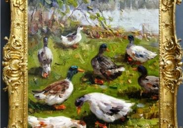Tablou cu rate, tablou cu animale salbatice, tablouri cu animale pictate, tablouri cu an