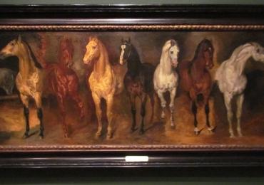 Tablou cu sapte cai, tablou cu animale salbatice, tablouri cu animale pictate, tablouri