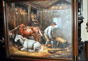 Tablou cu scena pastorala, tablou cu caii, tablou cu animale salbatice, tablouri cu ani