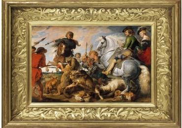 Tablou cu scene de vanatoare celebra Rubens, tablou cu animale salbatice, tablouri c