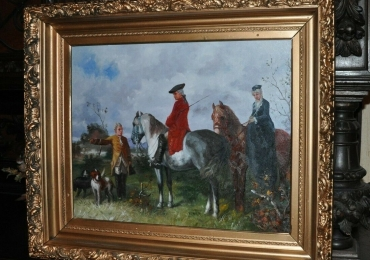 Tablou cu scene de vanatoare, tablou cu animale salbatice, tablouri cu animale pictate