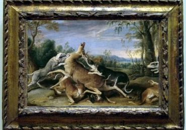 Tablou cu scene de vanatoare, tablou cu cerbi, tablou cu animale salbatice, tablouri c