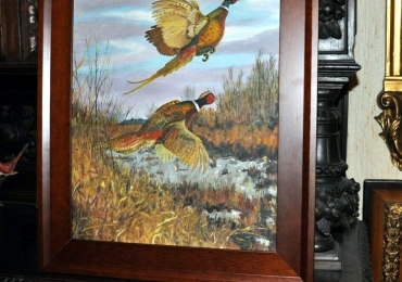 Tablou cu vazani in Delta, tablou cu animale salbatice, tablouri cu animale pictate, ta