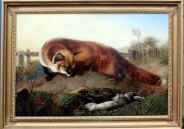 Tablou cu vulpe, tablou cu animale salbatice, tablouri cu animale pictate, tablouri cu