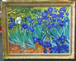 Tablou fiori de gradina, tablou cu flori mov, tablou cu flori de toamna, tablou floral, Van Gogh,