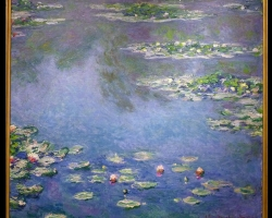 Tablou inmpresionist, Claude Monet Nymphèas, tablou sufragerie, tablou dimensiune mare, tablou cu flori