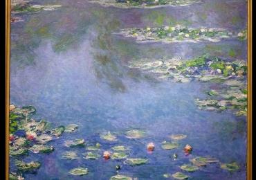 Tablou inmpresionist, tablou sufragerie, tablou dimensiune mare, tablou cu flori,Claude Monet Nymphèas, Tablou cu tema abstracta