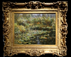 Tablou lac cu flori, tablou cunuferi plutind pe lac