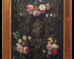 Tablou natura moarta, Tablou cu flori, tablou cu buchet de flori, tablouri cu aranjamente florale SEGHERS AND ERASMUS QUELLINUS THE YOUNGER