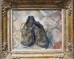 Tablou natura moarta cu pantofi uzati, Vincent van gogh, scarpre, 1888