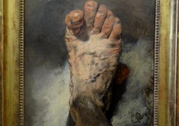 Tablou natura moarta, tablou natura statica, Adolph Menzel, The artist's foot