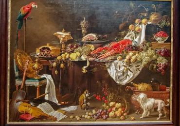 Tablou natura moarta, tablou natura statica, Banquet Still Life, Abraham van Beyeren