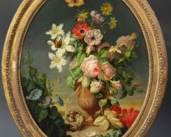 Tablou natura moarta, tablou natura statica, Buchet de flori, tablou cu flori in vaza, tablou floral
