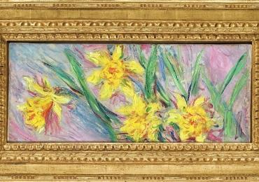 Tablou natura moarta, tablou natura statica, Claude Monet Narcisi, Tablou flori de narcise, tablou cu flori galbene, tablou floral