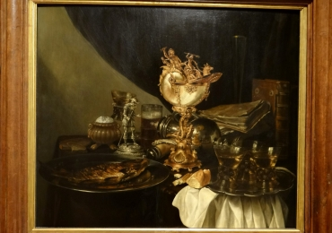 Tablou natura moarta, tablou natura statica, Gerritt Willemsz Heda Still life with a nautilus cup
