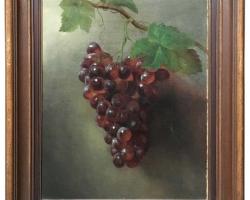 Tablou natura moarta, tablou natura statica, Oil on Canvas Painting, Grapes