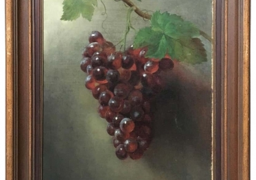 Tablou natura moarta, tablou natura statica, Oil on Canvas Painting, Grapes