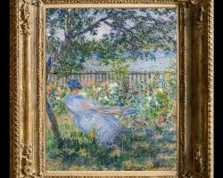 Tablou pictat cu buchet de flori in gradina de vara,, tablou celebru, Tablou floral, idei de cadouri, aranjamente  florale pentru ocazii deosebite