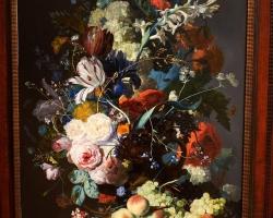 Tablou pictat cu buchet de flori, tablouri cu aranjamente florale, picturi florale