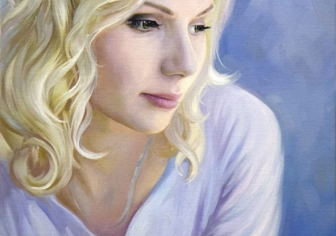 Tablou pictat, portret de femeie tanara, portrete cu femei, portrete la comanda