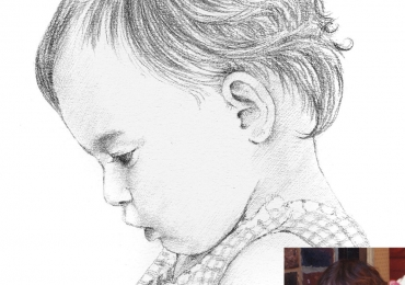 Tablou portret din profil la comanda, portrete la comanda, Tablouri personalizate