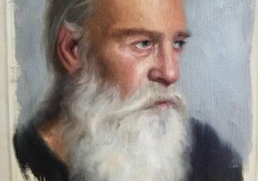 Tablou portret la comanda 1 personaj, Tablouri pictate in ulei, portret de barbat cu barba alba