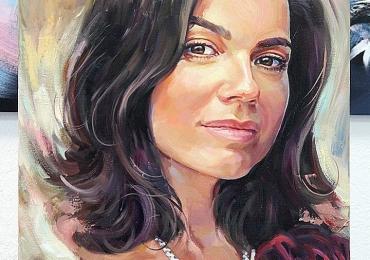 Tablou portret la comanda, Tablouri pictate personalizate,  Cadouri de craciun pentru femei, portrete la comanda, Tablouri pictate portrete, Cadouri pentru profesori, portrete la comanda, Tablou pictat