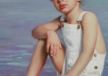 Tablou portret la comanda, Tablouri pictate personalizate, portret de baietel