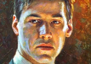 Tablou portret la comanda cu barbat, Tablouri pictate personalizate, Cadouri de craciun pentru barbatI, portrete la comanda, Tablouri pictate portrete