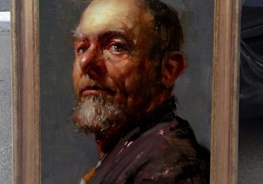 Tablou portret pictat barbat. Portrete la comanda cu barbati. Portretele idei de cadou
