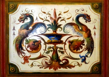 Tablou reproducere Vatican, decoratiune natura moarta cu dragoni, reproduceri celebre