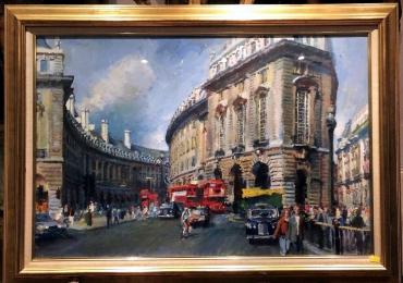 Tablou urban, tablou cu cladiri din Roma, tablou cu aglomeratii urbane, tablou cu strazi, tablouri living, picturi in ulei pe panza, picturi cu peisaje