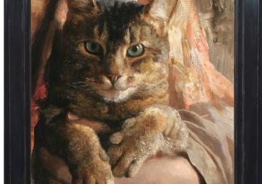 Tablou portret de pisoi, tablou cu animale salbatice, tablouri cu animale pictate