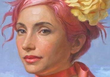 Tablouri cu femei pictate. Portrete pictate manual in ulei pe panza