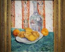 Tablouri cu natura moarta Carafe and Dish with Citrus Fruit (1887), Vincent van Gogh