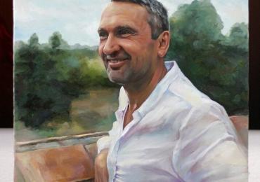 Tablouri cu portrete online. Portret de barbat, portret de sot, portret de adolescent, portret de tata, portret de iubit, portret de prieten