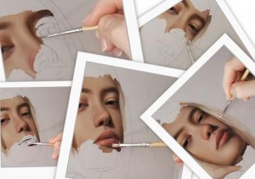 Tablouri idei de cadouri originale pictate manual, portrete la comanda, Tablouri pictate personalizate