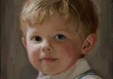 Tablouri la comanda, portrete la comanda, Tablouri pictate personalizate, Portret de copil, portret de baietel