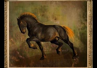 Tablouri moderne, Tablou cu Armasar, Tablou cu cal belgian, tablou cu animale picta