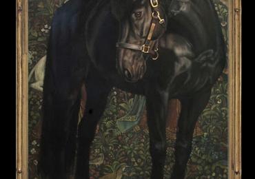 Tablouri moderne, Tablou cu Cel mai bun cal de echitatie, tablou cu animale pictat