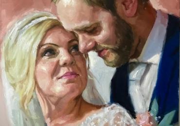 Tablouri personalizate la comanda, portrete la comanda, Tablouri pictate pe panza, portret de nunta