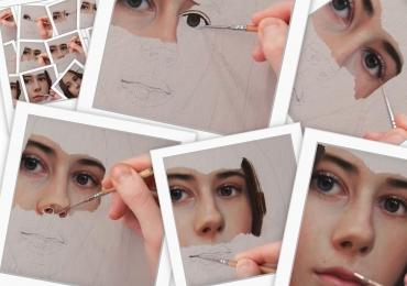 Tablouri pictat de adolescenta pictata la comanda, portrete la comanda, Tablouri pictate personalizate