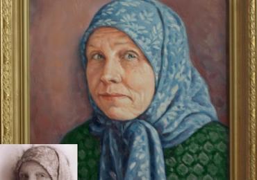 Tablouri pictate cu portrete de femei, Tablouri pictate manual, Portret de bunica