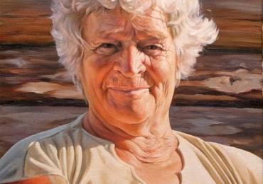 Tablouri pictate cu portrete de femei, Tablouri pictate manual, idei de cadouri, portret de bunica