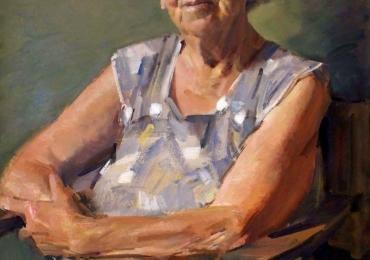 Tablouri pictate cu portrete de femei si bunici, Tablouri pictate manual, Portret de bunica