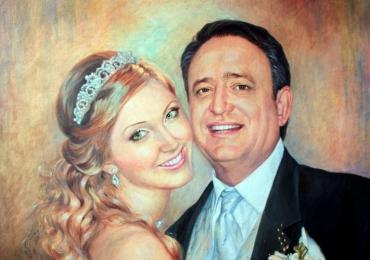 Tablouri pictate la comanda speciala, Tablouri pictate personalizate, Portrete de nunta, portret de mireasa, portrete cupluri