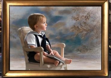 Tablouri pictate peisaje,Tablouri pictate personalizate,portret de baiat, portret de copl