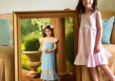 Tablouri pictate, portrete la comanda, Tablouri pictate personalizate, idei de cadouri pentru copii