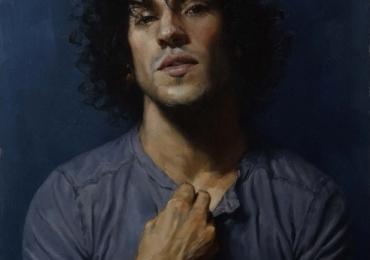 Tablouri portret la comanda, Tablouri pictate in ulei,  Pictura portret la comanda, portret modern de barbat